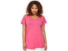 DKNY Jeans Plus Size Embroidered Eyelet Tee