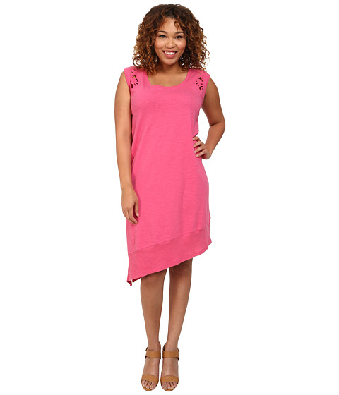 DKNY Jeans - Plus Size Embroidered Eyelet Dress (Azalea) Women's Dress