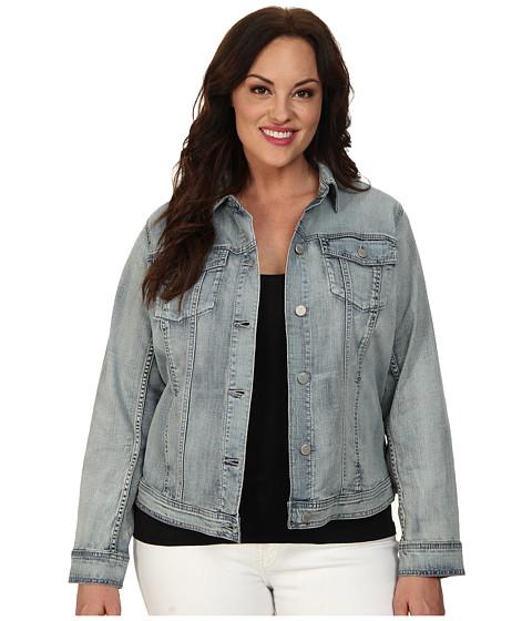 DKNY Jeans - Plus Size Denim Jacket (Scorched Indigo Wash) Women