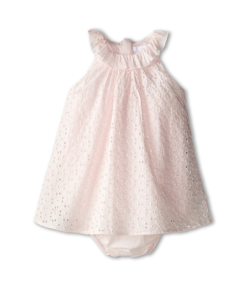 Chloe Kids - Eyelet Overlay Bubble (Infant) (Light Pink) Girl's Clothing