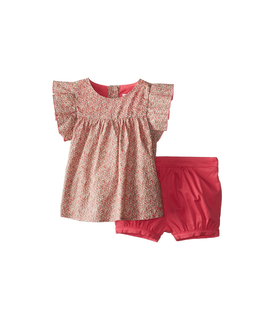 Chloe Kids - Liberty Print Blouse and Shorts Two-Piece Set (Infant) (Fuchsia) Girl