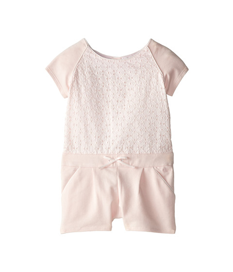 Chloe Kids - Fleece Terri Romper w/ Eyelet Overlay (Toddler) (Light Pink) Girl