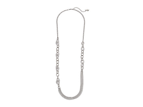 Betsey Johnson - Sparkle Links Long Necklace (Crystal/Silver Plate) Necklace