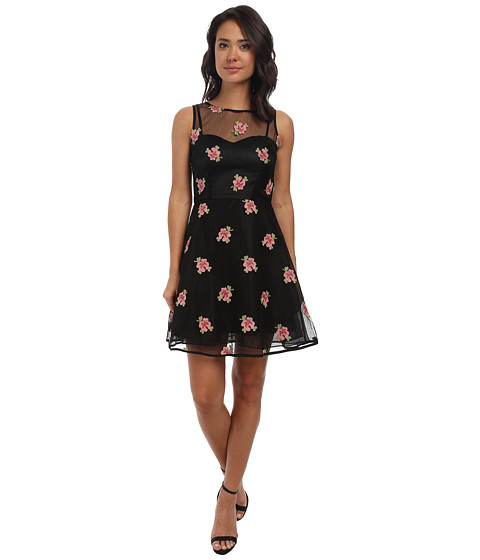 Alejandra Sky - Florrie Print Dress (Black) Women's Dress