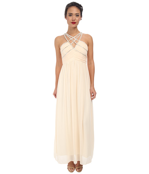 Alejandra Sky - Fayanna Strap Maxi Dress (Cream) Women