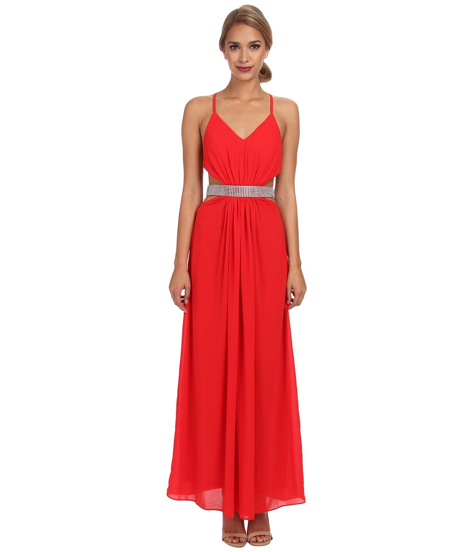 Alejandra Sky - Flora Halter Dress (Red) Women