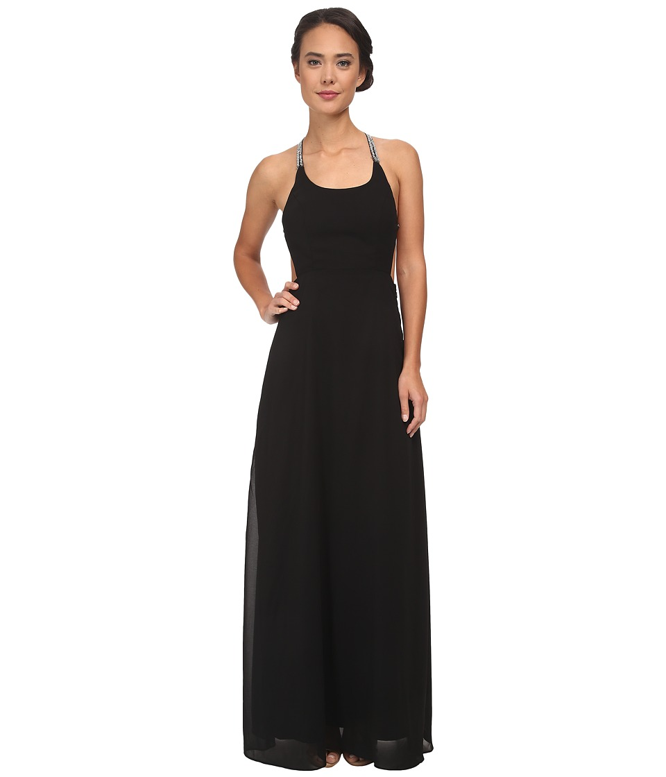 Alejandra Sky - Gallia Halter Dress (Black) Women's Dress