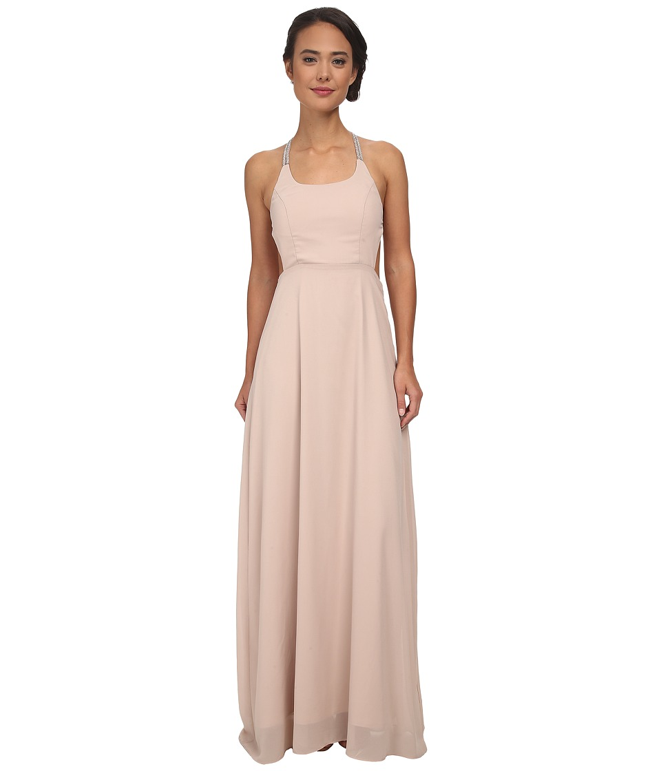 Alejandra Sky - Gallia Halter Dress (Taupe) Women's Dress