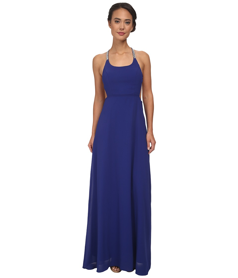 Alejandra Sky - Gallia Halter Dress (Royal Blue) Women