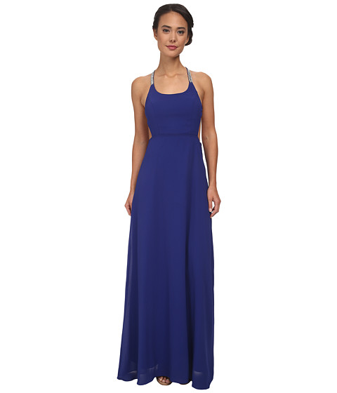 Alejandra Sky - Gallia Halter Dress (Royal Blue) Women's Dress