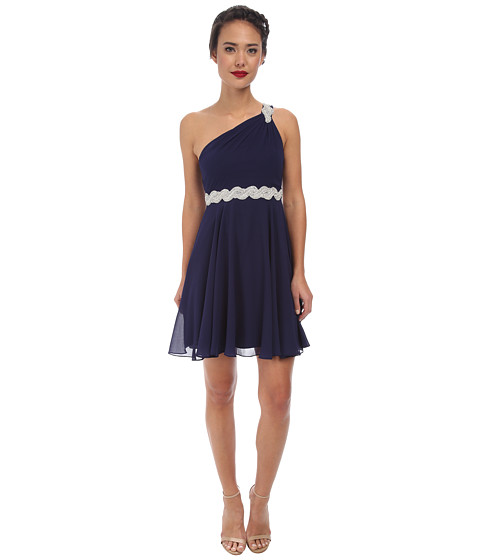Alejandra Sky - Fanetta One-Shoulder Dress (Navy) Women's Dress