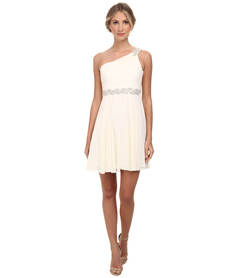 Alejandra Sky - Fanetta One-Shoulder Dress (Ivory) Women