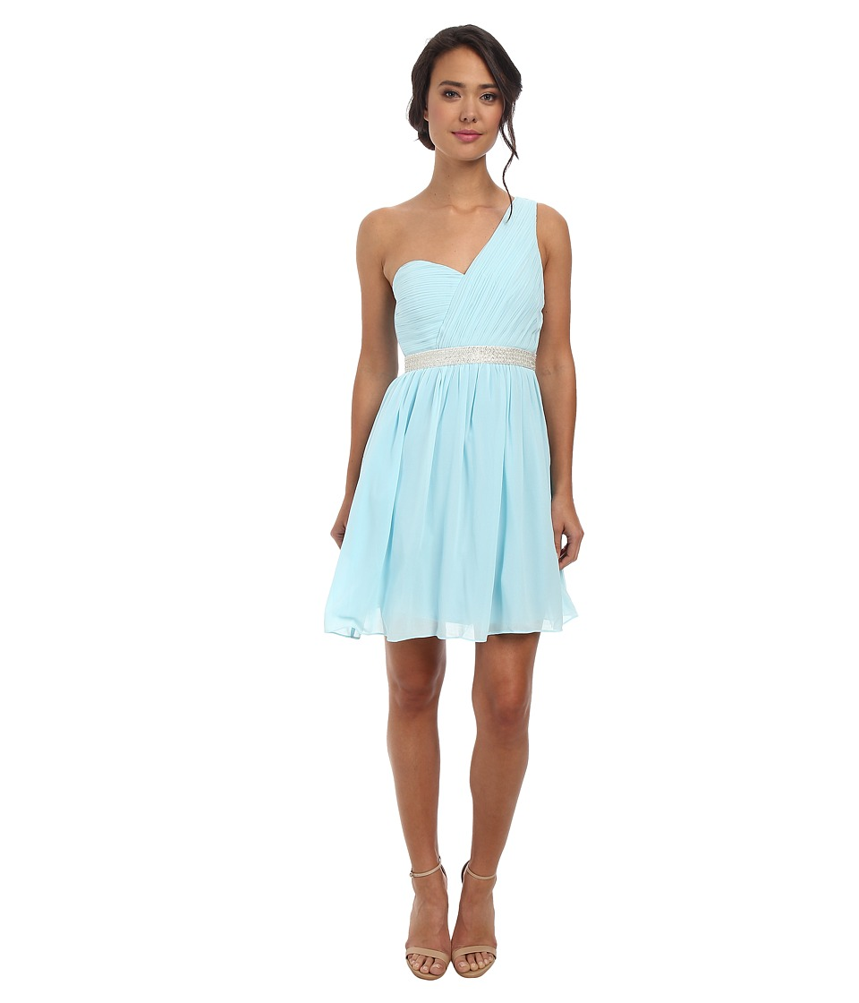 Alejandra Sky - Fontanne One-Shoulder Dress (Light Blue) Women