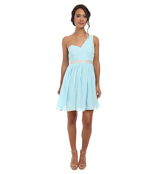 Alejandra Sky - Fontanne One-Shoulder Dress (Light Blue) Women's Dress