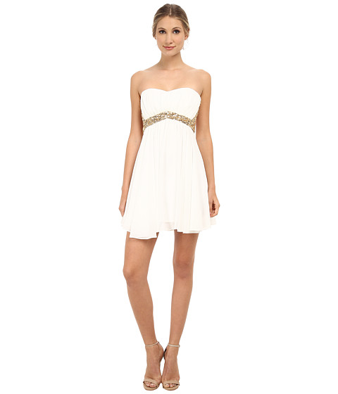 Alejandra Sky - Geneve Short Dress (White) Women