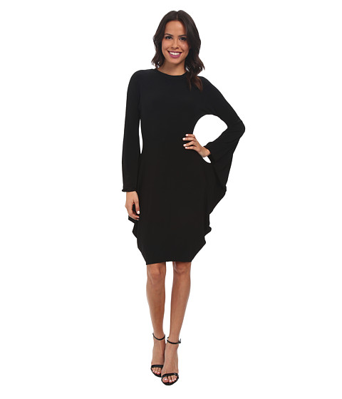 KAMALIKULTURE by Norma Kamali - Modern Sculpture Dress (Black) Women