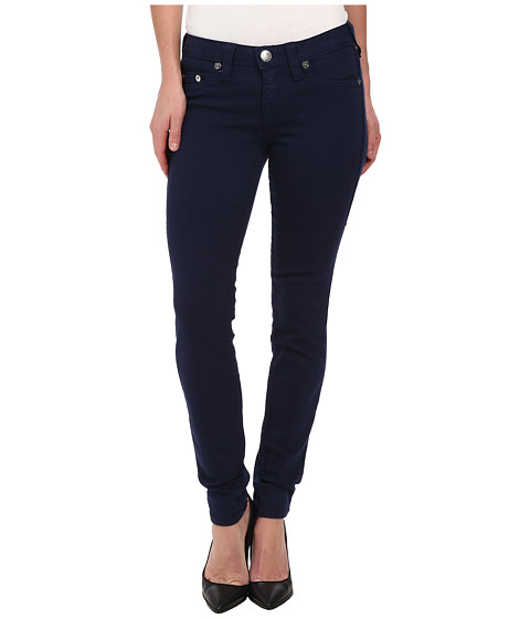 True Religion - Halle Higher Rise Skinny Leggings in Dark Navy (Dark Navy) Women