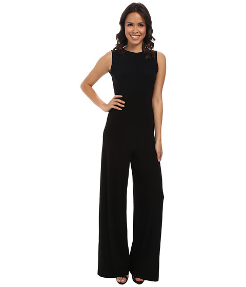 KAMALIKULTURE by Norma Kamali - Sleeveless Open Back Jumpsuit (Black) Women's Jumpsuit & Rompers One Piece