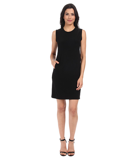 KAMALIKULTURE by Norma Kamali - Sleeveless Sporty Dress (Black) Women's Dress