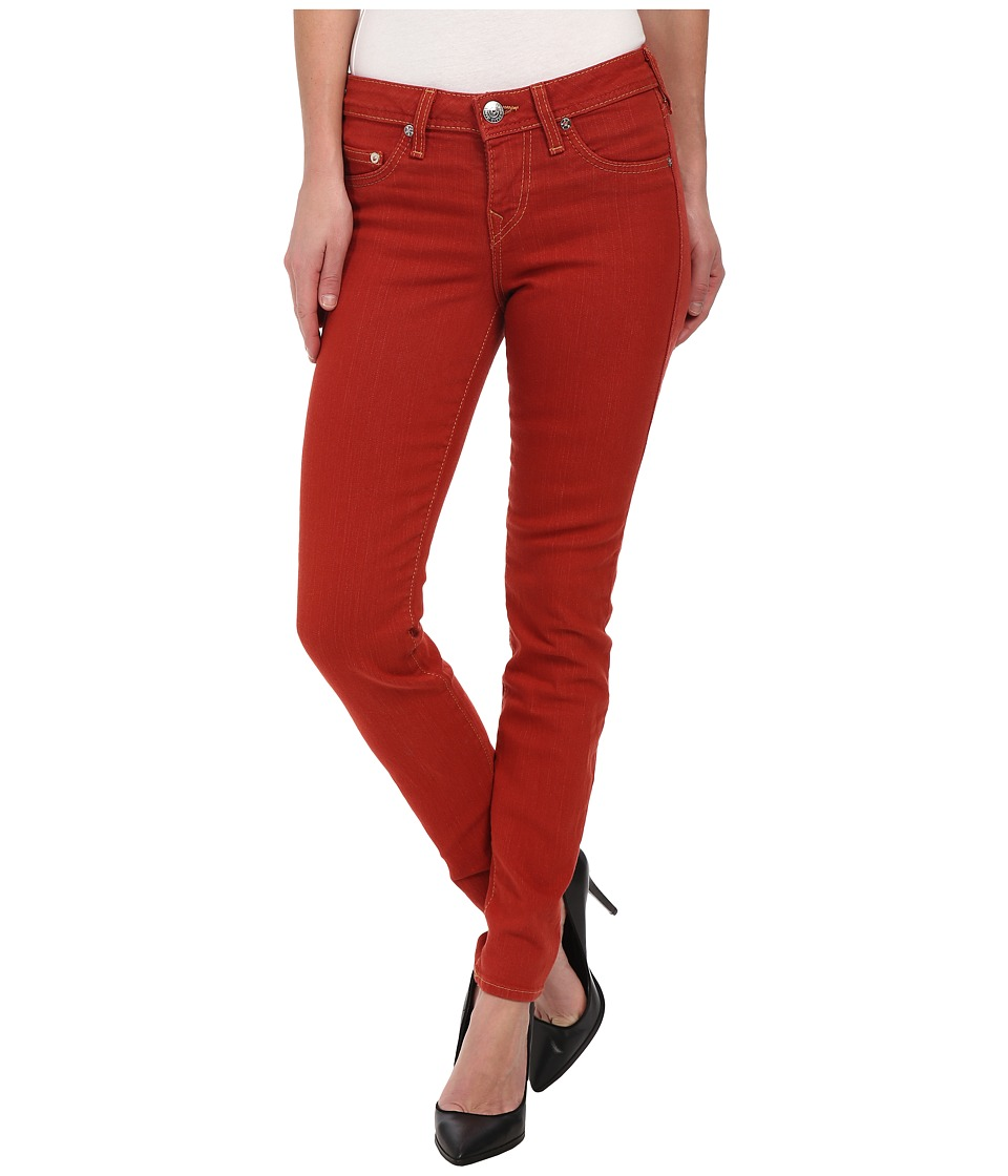 True Religion - Halle Phantom Skinny Jeans in Tomato (Tomato) Women