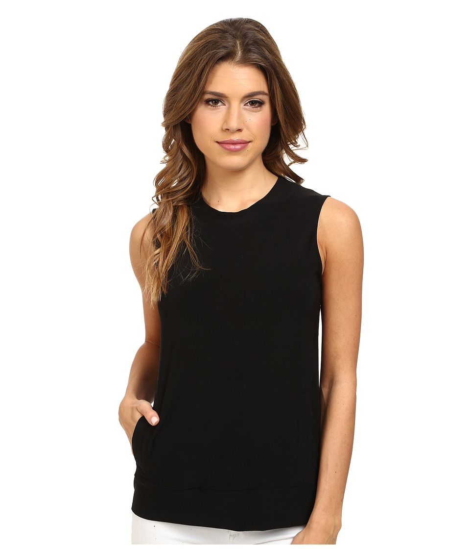KAMALIKULTURE by Norma Kamali - Sleeveless Sporty Top (Black) Women's Sleeveless