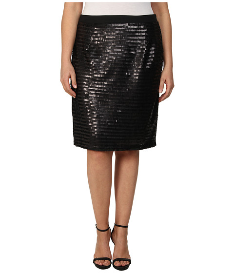 Mynt 1792 - Plus Size Pencil Skirt (Black) Women's Skirt