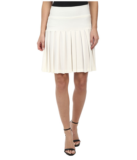 KAMALIKULTURE by Norma Kamali - Schoolgirl Mini (Off White) Women's Skirt