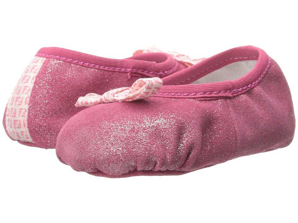 Fendi Kids - Ballet Crib Shoes (Infant) (Pink) Girl's Shoes