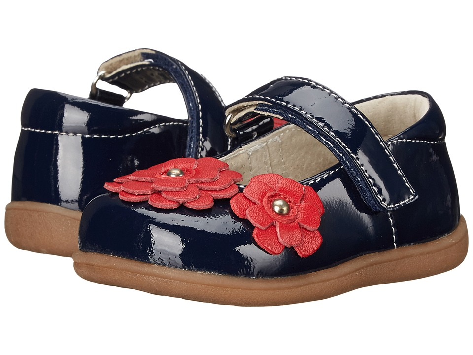 See Kai Run Kids - Sue (Toddler) (Navy Patent) Girl's Shoes