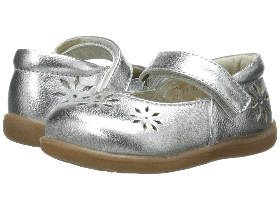 See Kai Run Kids - Riolyne (Toddler) (Silver) Girl's Shoes