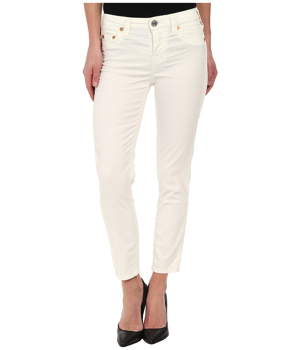 True Religion - Brooklyn Corduroy Cropped in Optic White (Optic White) Women's Casual Pants