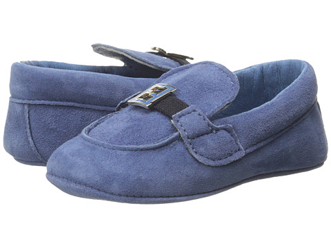Fendi Kids - Loafer Crib Shoes (Infant) (Blue) Boys Shoes
