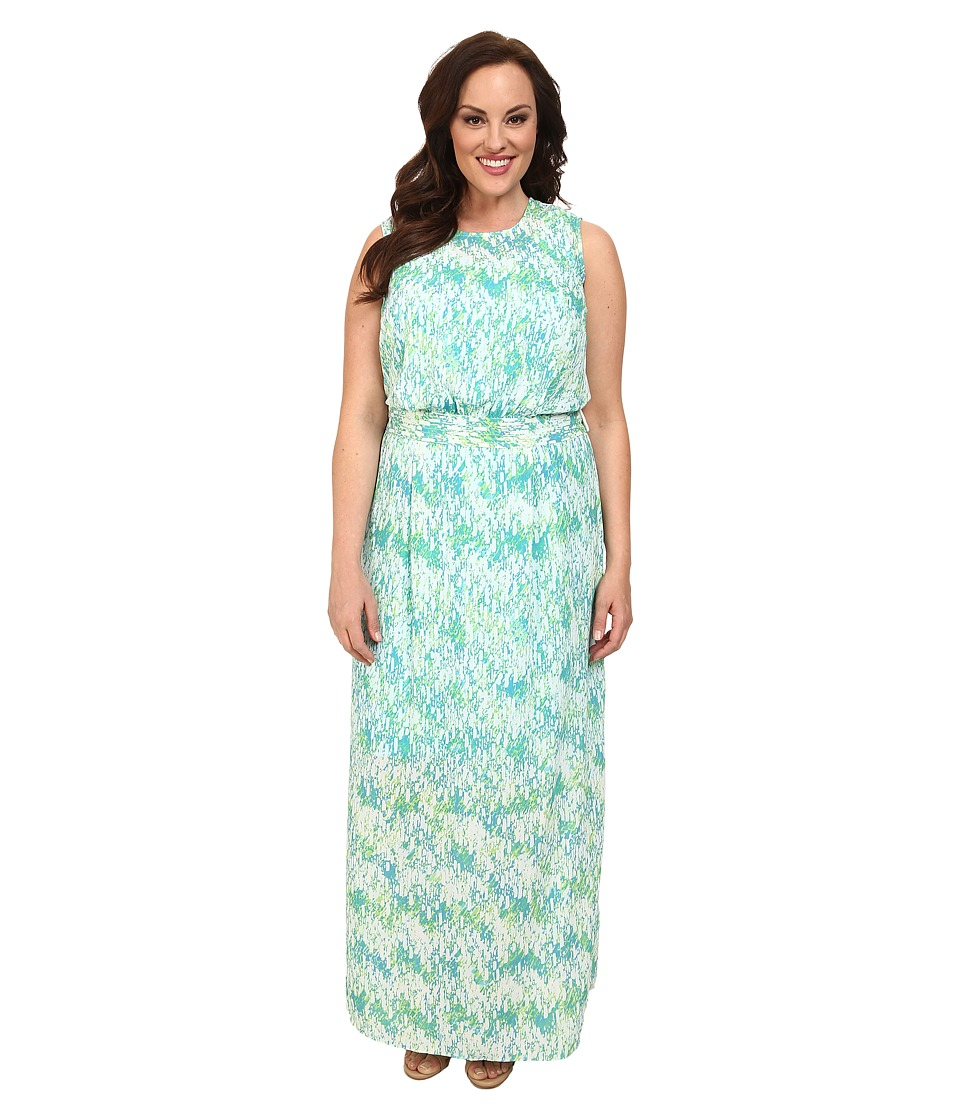 Mynt 1792 - Plus Size Maxi w/ Detachable Belt (Lime Raindrop) Women