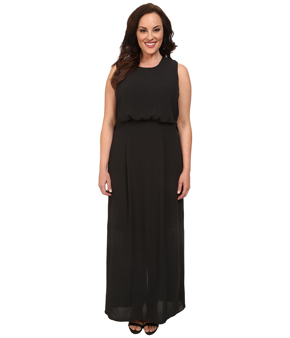 Mynt 1792 - Plus Size Maxi w/ Detachable Belt (Black) Women's Dress