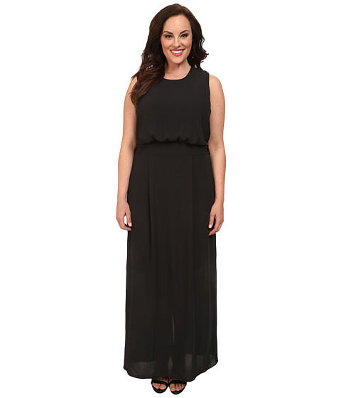 Mynt 1792 - Plus Size Maxi w/ Detachable Belt (Black) Women