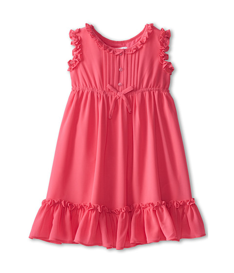 Us Angels - Sleeveless Empire w/ Ruffle Trim (Little Kids) (Fuchsia) Girl's Dress