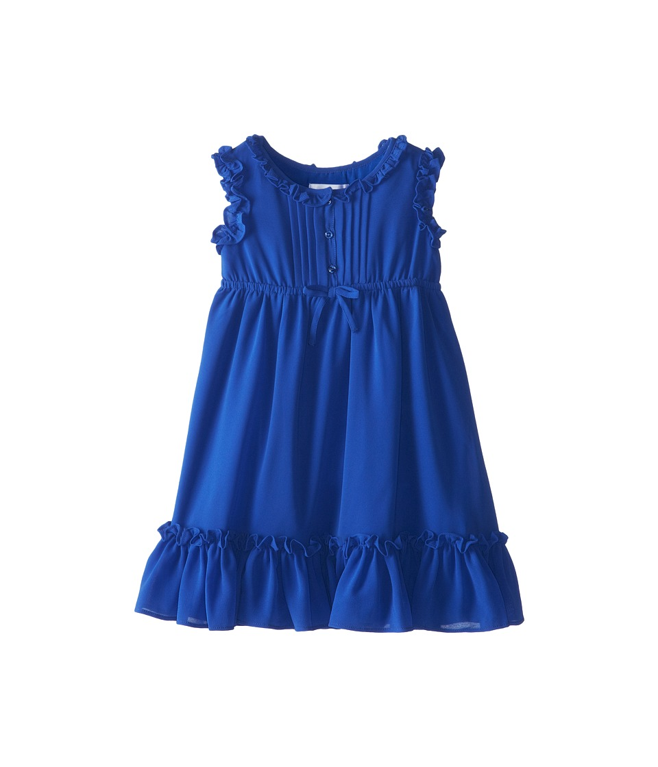 Us Angels - Sleeveless Empire w/ Ruffle Trim (Little Kids) (Ocean Blue) Girl's Dress