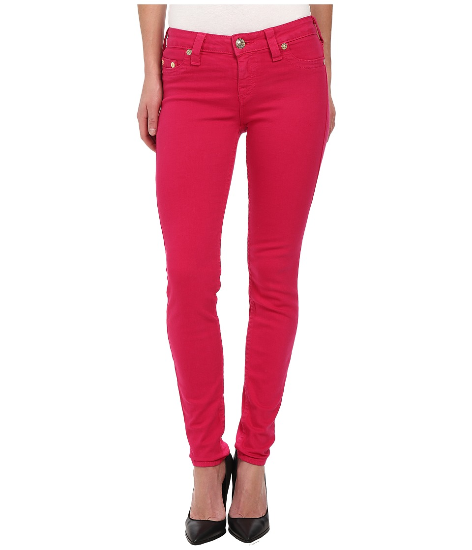 True Religion - Halle Super Skinny Leggings in Fuchsia (Fuchsia) Women