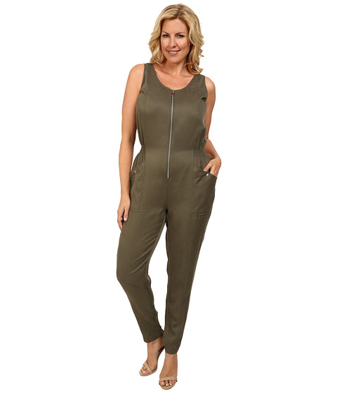 Mynt 1792 - Plus Size Military Jumpsuit (Dried Herb) Women's Jumpsuit & Rompers One Piece