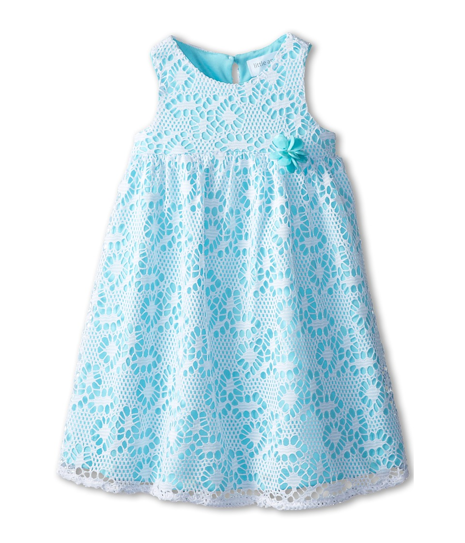 Us Angels - Sleeveless Racer Back Empire (Toddler) (Aqua) Girl