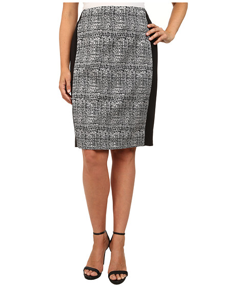 Mynt 1792 - Plus Size Long Skirt (Pink Tweed) Women's Skirt