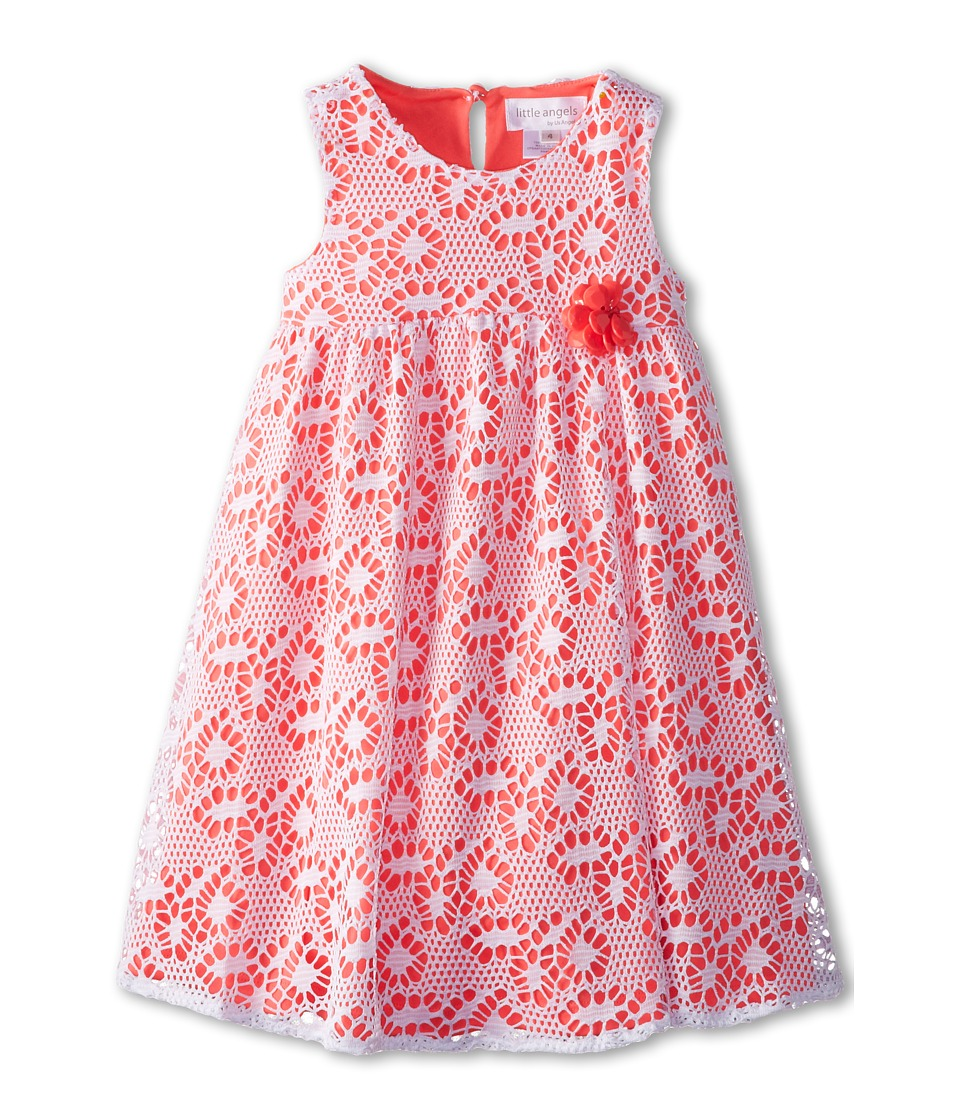 Us Angels - Sleeveless Racer Back Empire (Little Kids) (Neon Orange) Girl's Dress