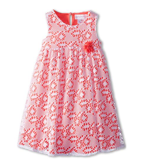 Us Angels - Sleeveless Racer Back Empire (Little Kids) (Neon Orange) Girl's Dress