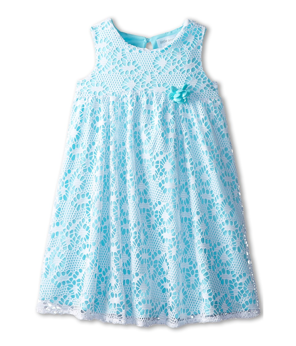 Us Angels - Sleeveless Racer Back Empire (Little Kids) (Aqua) Girl's Dress