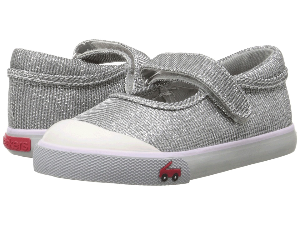 See Kai Run Kids - Marie (Toddler) (Silver) Girls Shoes
