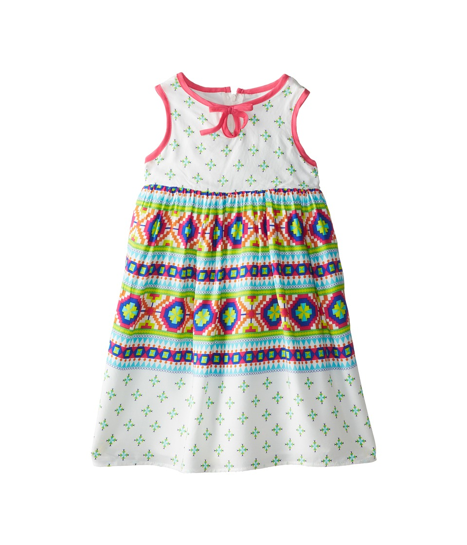Us Angels - Sleeveless Bow Front Empire Dress (Toddler) (Multi) Girl
