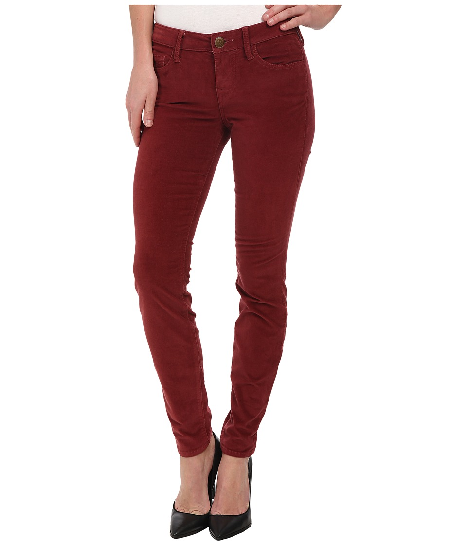 True Religion - Halle High Rise Skinny Lonestar in Light Burgundy (Light Burgundy) Women's Jeans