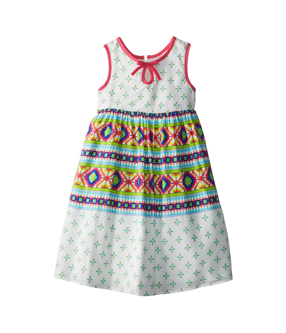 Us Angels - Sleeveless Bow Front Empire Dress (Little Kids) (Multi) Girl