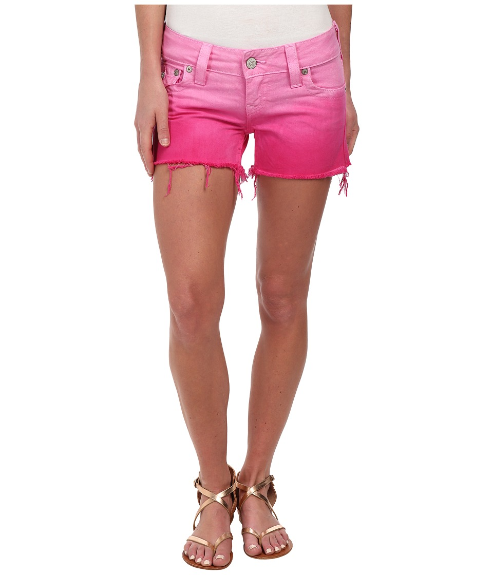 True Religion - Kiera Ombre Shorts in Fuchsia (Fuchsia) Women's Shorts