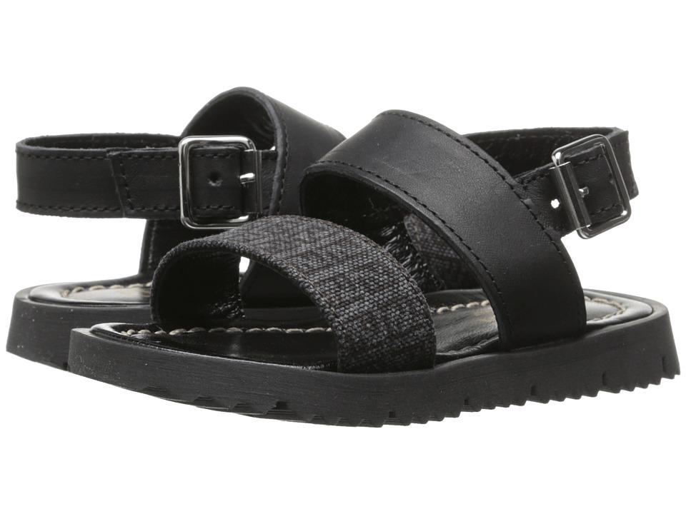 Fendi Kids - Strap Sandals w/ Logo Print (Toddler) (Grey) Boys Shoes